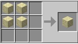 как сделать песок в майнкрафт
